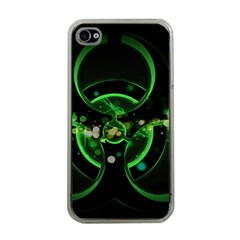 Radiation Sign Spot  Apple Iphone 4 Case (clear) by amphoto