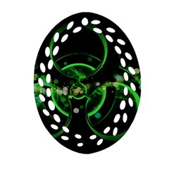 Radiation Sign Spot  Ornament (oval Filigree) by amphoto