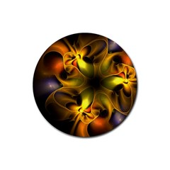 Art Fractal  Rubber Coaster (round)  by amphoto