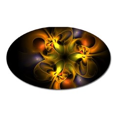 Art Fractal  Oval Magnet by amphoto