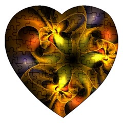 Art Fractal  Jigsaw Puzzle (heart) by amphoto