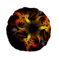 Art Fractal  Standard 15  Premium Flano Round Cushions by amphoto