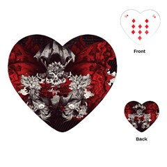 Patterns Bright Background  Playing Cards (heart)  by amphoto