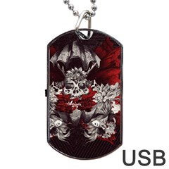 Patterns Bright Background  Dog Tag Usb Flash (one Side) by amphoto