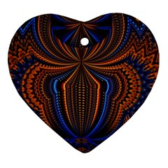 Patterns Light Dark Ornament (heart) by amphoto