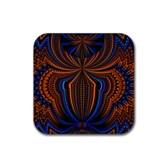 Patterns Light Dark Rubber Square Coaster (4 Pack)  by amphoto