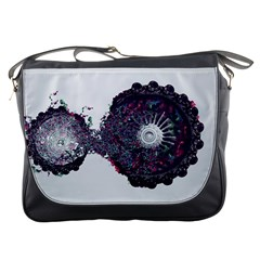 Circles Background Bright  Messenger Bags by amphoto