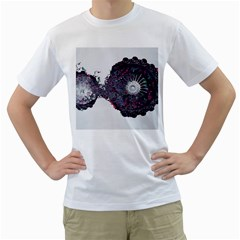 Circles Background Bright  Men s T Shirt (white)  by amphoto