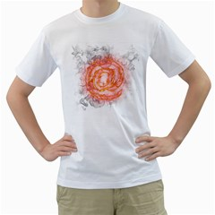 Symbol Fire Flame  Men s T Shirt (white) (two Sided) by amphoto