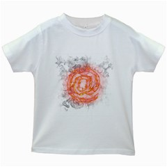 Symbol Fire Flame  Kids White T Shirts by amphoto
