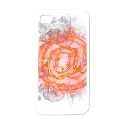 Symbol Fire Flame  Apple Iphone 4 Case (white) by amphoto