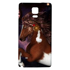 Steampunk Wonderful Wild Horse With Clocks And Gears Galaxy Note 4 Back Case by FantasyWorld7