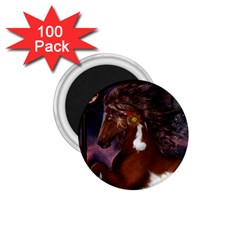 Steampunk Wonderful Wild Horse With Clocks And Gears 1 75  Magnets (100 Pack)  by FantasyWorld7