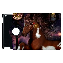 Steampunk Wonderful Wild Horse With Clocks And Gears Apple Ipad 3/4 Flip 360 Case by FantasyWorld7