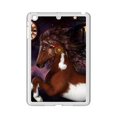 Steampunk Wonderful Wild Horse With Clocks And Gears Ipad Mini 2 Enamel Coated Cases by FantasyWorld7