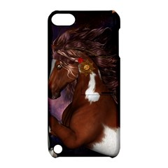 Steampunk Wonderful Wild Horse With Clocks And Gears Apple Ipod Touch 5 Hardshell Case With Stand