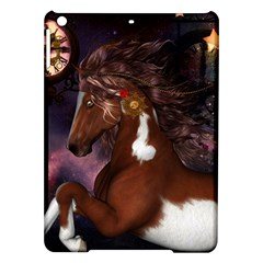 Steampunk Wonderful Wild Horse With Clocks And Gears Ipad Air Hardshell Cases by FantasyWorld7