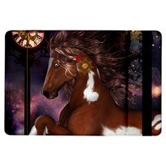Steampunk Wonderful Wild Horse With Clocks And Gears Ipad Air Flip by FantasyWorld7