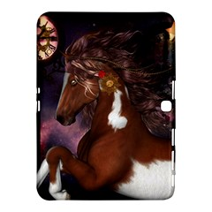 Steampunk Wonderful Wild Horse With Clocks And Gears Samsung Galaxy Tab 4 (10 1 ) Hardshell Case  by FantasyWorld7