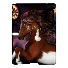 Steampunk Wonderful Wild Horse With Clocks And Gears Samsung Galaxy Tab S (10 5 ) Hardshell Case  by FantasyWorld7