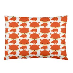 Cute Little Fox Pattern Pillow Case (two Sides) by paulaoliveiradesign