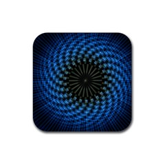 Patterns Circles Rays  Rubber Coaster (square)  by amphoto