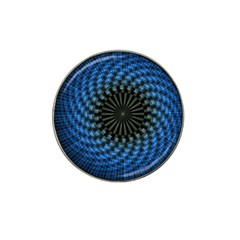 Patterns Circles Rays  Hat Clip Ball Marker by amphoto