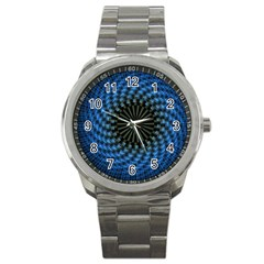 Patterns Circles Rays  Sport Metal Watch by amphoto
