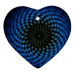 Patterns Circles Rays  Heart Ornament (two Sides) by amphoto