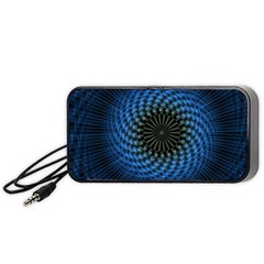 Patterns Circles Rays  Portable Speaker (black) by amphoto