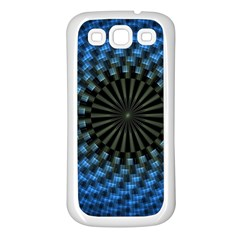 Patterns Circles Rays  Samsung Galaxy S3 Back Case (white) by amphoto