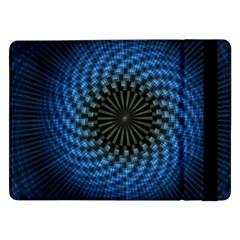 Patterns Circles Rays  Samsung Galaxy Tab Pro 12 2  Flip Case by amphoto