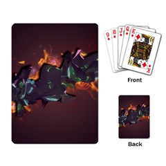 Abstraction Patterns Stripes  Playing Card by amphoto
