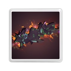Abstraction Patterns Stripes  Memory Card Reader (square)  by amphoto