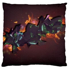 Abstraction Patterns Stripes  Large Cushion Case (two Sides) by amphoto