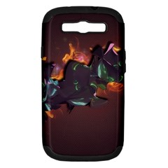 Abstraction Patterns Stripes  Samsung Galaxy S Iii Hardshell Case (pc+silicone) by amphoto