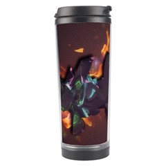 Abstraction Patterns Stripes  Travel Tumbler by amphoto