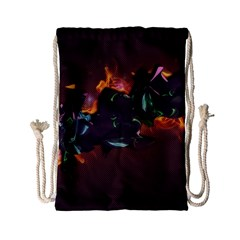 Abstraction Patterns Stripes  Drawstring Bag (small) by amphoto