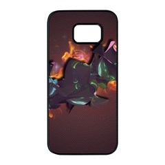 Abstraction Patterns Stripes  Samsung Galaxy S7 Edge Black Seamless Case by amphoto