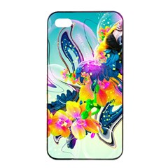 Parrot Abstraction Patterns Apple Iphone 4/4s Seamless Case (black) by amphoto