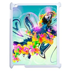Parrot Abstraction Patterns Apple Ipad 2 Case (white)