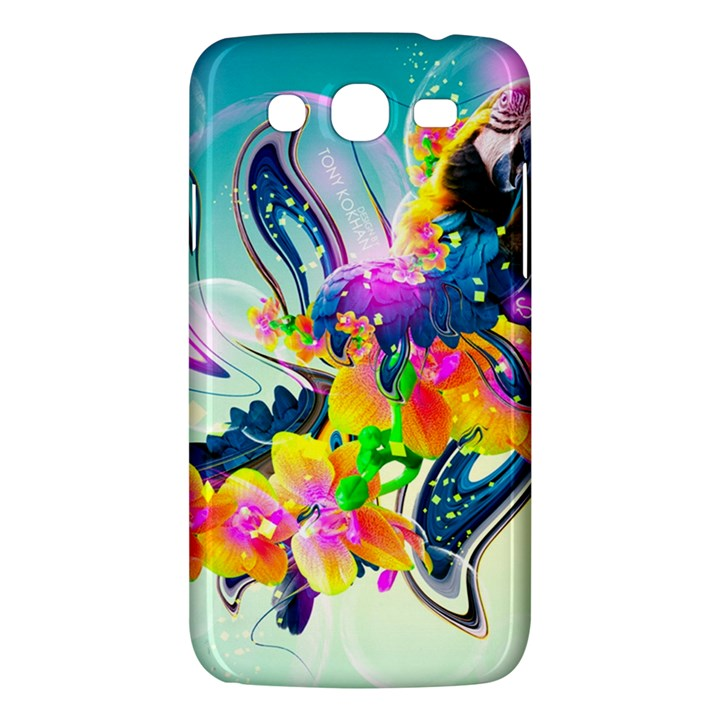 Parrot Abstraction Patterns Samsung Galaxy Mega 5.8 I9152 Hardshell Case