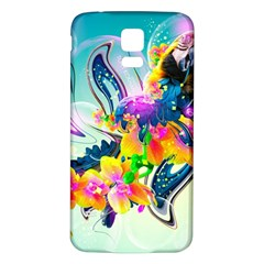 Parrot Abstraction Patterns Samsung Galaxy S5 Back Case (white)