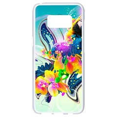 Parrot Abstraction Patterns Samsung Galaxy S8 White Seamless Case by amphoto