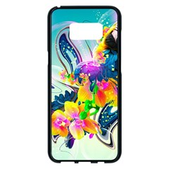 Parrot Abstraction Patterns Samsung Galaxy S8 Plus Black Seamless Case