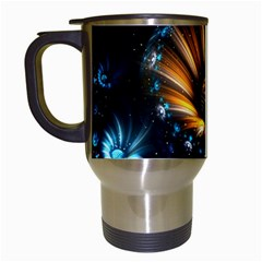 Fractal Flowers Abstract  Travel Mugs (white) by amphoto