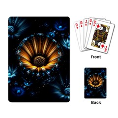 Fractal Flowers Abstract  Playing Card by amphoto