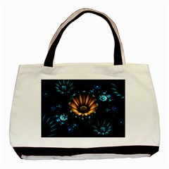 Fractal Flowers Abstract  Basic Tote Bag