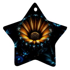 Fractal Flowers Abstract  Star Ornament (two Sides)