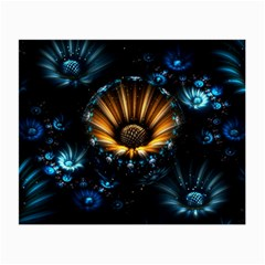 Fractal Flowers Abstract  Small Glasses Cloth (2 Side)